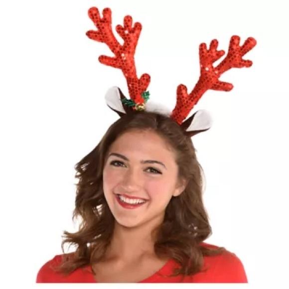 PARTY CITY Sequin in Reindeer Antlers Headban
